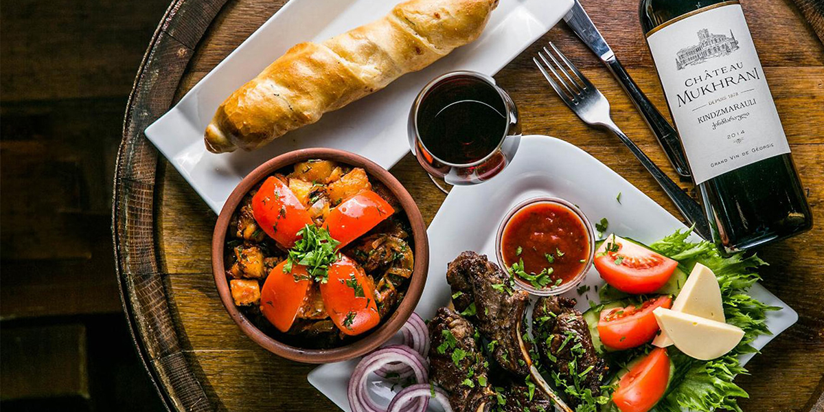 things to do in Georgia: taste Georgian dishes and wines