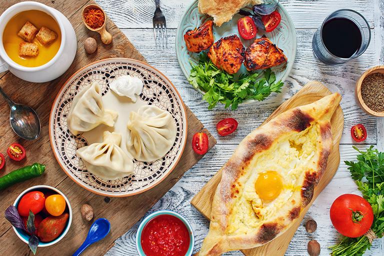 attractions in Georgia: Georgian gastronomy
