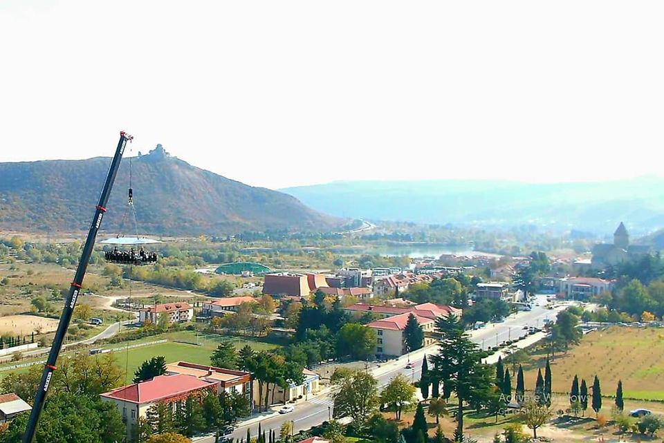 Mtskheta welcomed Dinner in the Sky
